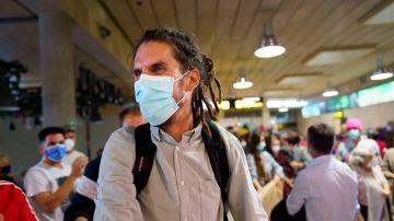 Alberto Rodríguez, a su llegada al aeropuerto de Tenerife Norte