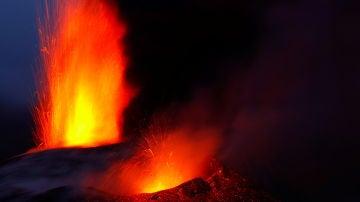 El volcán de La Palma, en plena erupción