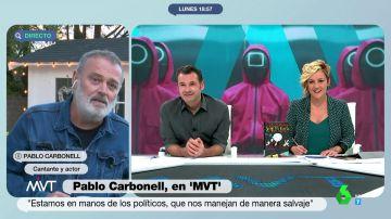 """El momento en el que Pablo Carbonell descubre en directo que su hija de 13 años ve El Juego del Calamar: """"¿Qué tengo que hacer?"""""""