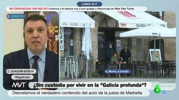 """La explicación del magistrado Joaquim Bosch al polémico auto de la custodia de un niño en """"la Galicia profunda"""""""