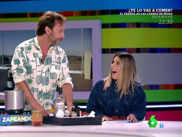 El tonteo entre Valeria Ros y Gipsy Chef en directo causa sensación en Zapeando