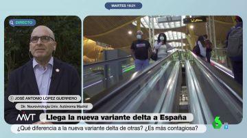 """¿Es la variante delta plus un peligro inminente en España? El mensaje de """"calma"""" del científico José Antonio López"""
