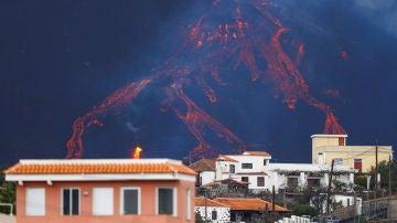 Vista del volcán de La Palma desde Tajuya