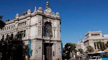 La fachada del Banco de España, en Madrid.