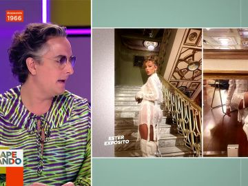 """Ester Expósito sorprende a Josie con este espectacular minivestido con botas altas y el pelo rizado: """"Es Marisa Berenson photoshopeada"""""""